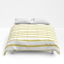 Simply Drawn Stripes Mod Yellow on White Comforters