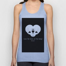 Love the dead, eat the living! Unisex Tank Top