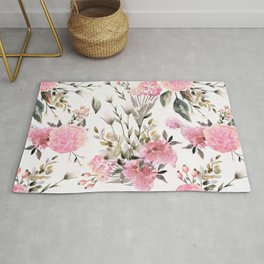 Roses and Wild Flowers Rug