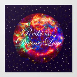 Reiki is Divine Love | The Energy it Flows | Going with the Flow Canvas Print