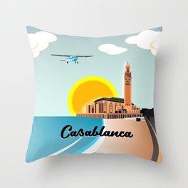 Casablanca Morocco Throw Pillow