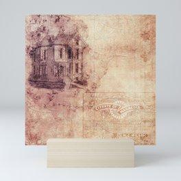 Old Antique Vintage Paper Texture Mini Art Print