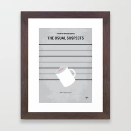 No095 My The usual suspects minimal movie poster Framed Art Print
