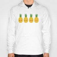 pineapples Hoodies featuring Pineapples by Sara Showalter
