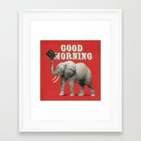 good morning Framed Art Prints featuring Good Morning by Eric Fan