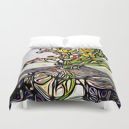 Shadow Flowers Duvet Cover