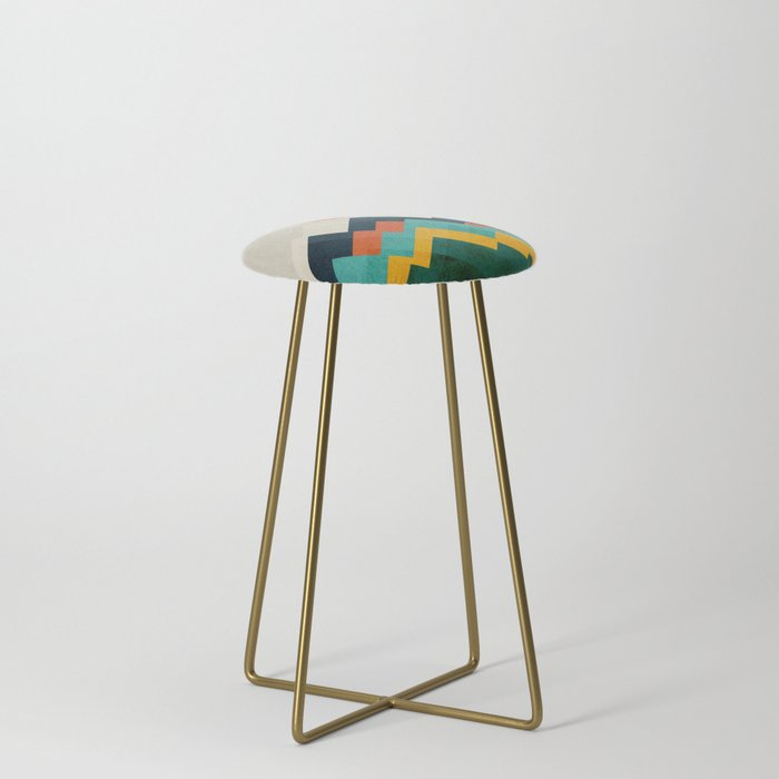 The_hills_are_alive_Counter_Stool_by_Picomodi__Gold