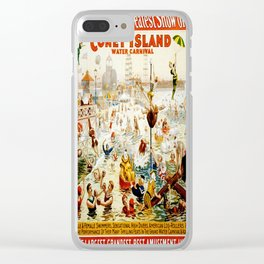 Vintage poster - Circus Clear iPhone Case