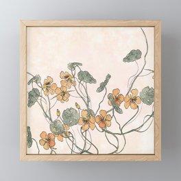 Winding flowers Framed Mini Art Print