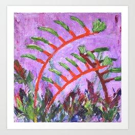 Rustic Kangaroo Paw Art Print