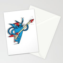 Cat's love to rock Stationery Cards
