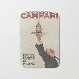 Vintage 1920 Cordial Campari Advertisement by Luigi Caldanzano Bath Mat