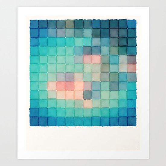 Polaroid Pixels VI (Crabapple) Art Print