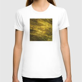 Classic Vintage Gold Faux Marble With Gold Veins T-shirt