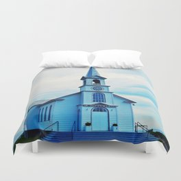 St. Georges de Malbaie Church Duvet Cover