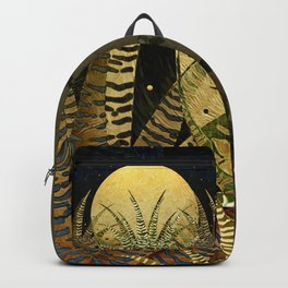 """Golden aloe Zebra midnight sun"" Backpack"