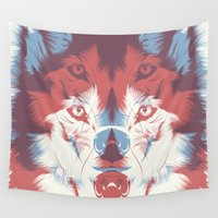 3d Wall Tapestries featuring WOLF 3D by CranioDsgn