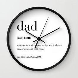 Dad definition Wall Clock