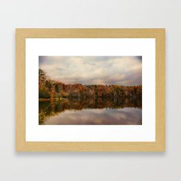 Autumn At Lake LaJoie 1 Framed Art Print