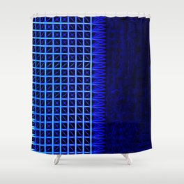 led blue Shower Curtain