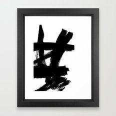 Abstract black & white 2 Framed Art Print
