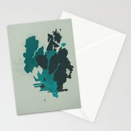 Geometric Mapping #3 • by Secret Peak Stationery Cards