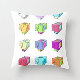 Cubeheds ( available for t-shirts ) Throw Pillow