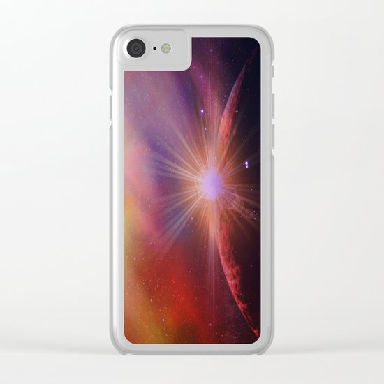 Mars rises Clear iPhone Case