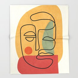 Abstract Face 20 Throw Blanket