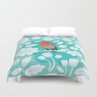 robin Duvet Covers featuring Robin by Ornaart