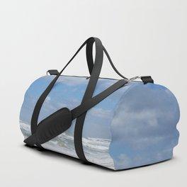 Let the Sea Foam Roll-Ormond Beach, Florida Duffle Bag