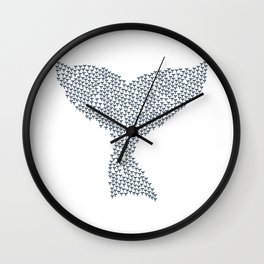 Orca Whale Tail Wall Clock