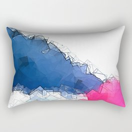 square fantasy colored waves Rectangular Pillow