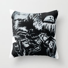 Old World Monkeys Throw Pillow
