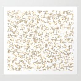 Goldwire Art Print