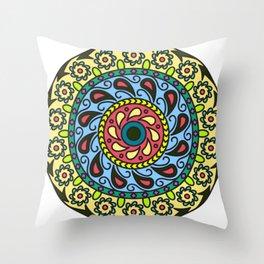 Patience Mandala Throw Pillow