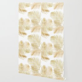 Gold Palm Leaves Wallpaper