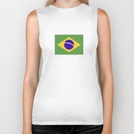 brazil country flag Biker Tank