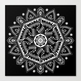 Unlocked (Black) Canvas Print