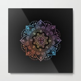 Color wash ornament Metal Print
