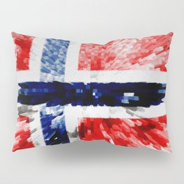 Extruded Flag of Norway Pillow Sham