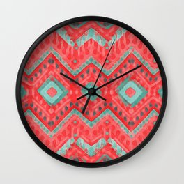 itzel - watermelon + teal Wall Clock