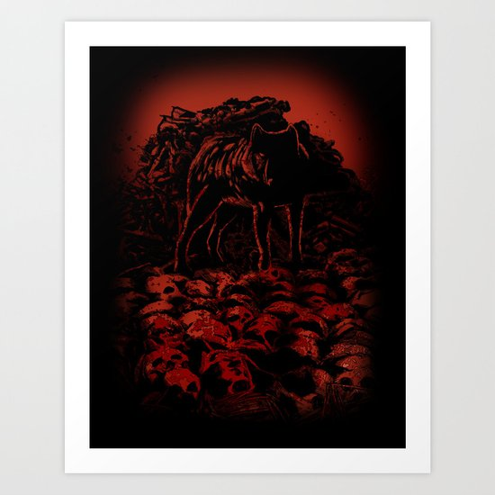 WOLFTHRONE Art Print