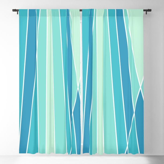 Retro Lines Blackout Curtain By Bitart