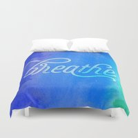 breathe Duvet Covers featuring Breathe by Noonday Design