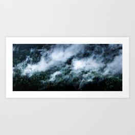 Foggy Mornings Panorama Art Print