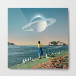 Watching Planets Metal Print