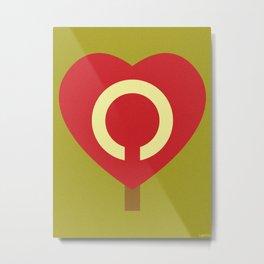 HEART SHINE Metal Print