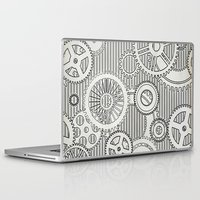 arya stark Laptop & iPad Skins featuring Stark Gears by Samantha Lynn