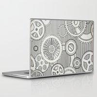 sansa stark Laptop & iPad Skins featuring Stark Gears by Samantha Lynn